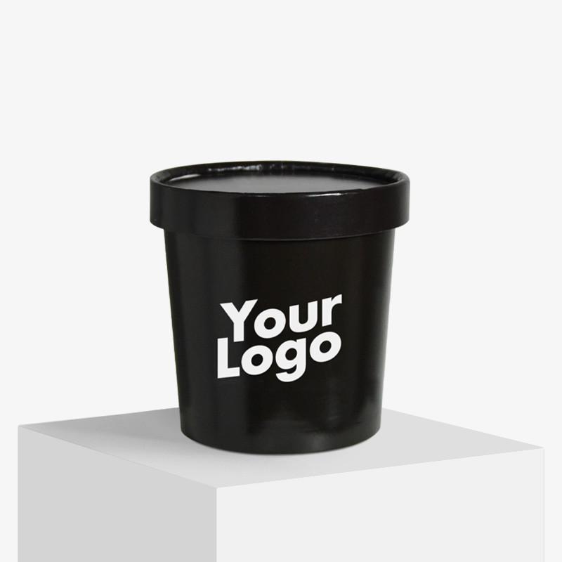 Logo food cups med lokk