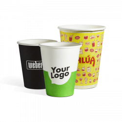Enkeltlag pappkrus med logo