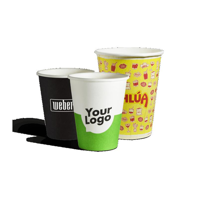 To go enkeltlags pappkrus med dit logo trykk
