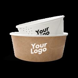 Pappskåler med logo trykk